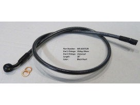 28in. Upper Front Brake Line with 10mm x 35 Degree Banjo - Black Pearl.