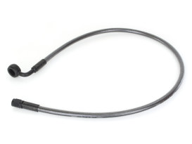26in. Upper Front Brake Line with 12mm x 90 Degree Banjo - Black Pearl.