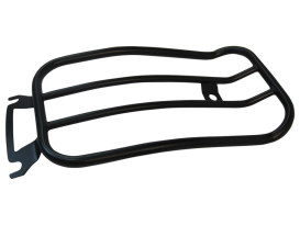 Matte Black Solo Seat Luggage Rack; FLH Touring 1997up