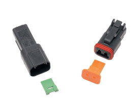 2-Wire Deutsch Receptacle with Wedgelock - Black.
