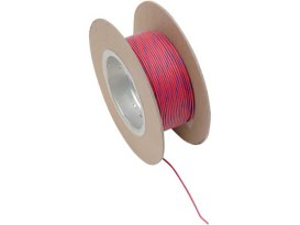 18-Gauge Wire - Red with Blue Stripe.