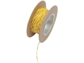 18-Gauge Wire - Yellow with Black Stripe.