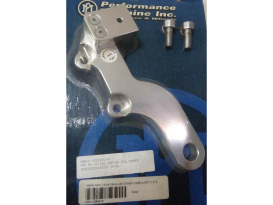 Left Hand Rear Caliper Mount with Polished Finish. Fits Sportster 2000-2003 with 11.5