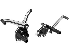 Roland Sands Design Forward Controls with Contrast Cut Finish. Fits Softail 2000up.