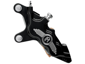 Left Hand Front 6 Piston Caliper - Black Contrast Cut. Fits most Big Twin 1984-1999 & Sportster 1984-1999 Models with 11.5