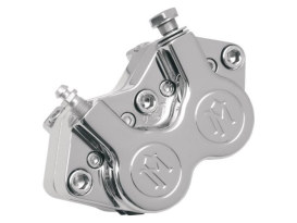Right Hand Front 4 Piston Caliper - Chrome. Fits FXSTS Springer Softail.