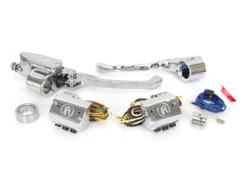 Handlebar Control Kit - Chrome. Fits Big Twin 1984-2011 with Clutch Cable & Single Disc Rotor.