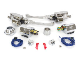 Handlebar Control Kit - Chrome. Fits HD 1996-2011 with Hydraulic Clutch & Cable Throttle with Single Disc Rotor.