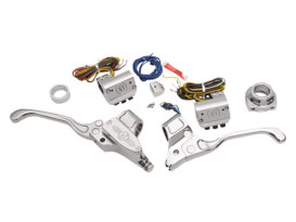 Handlebar Control Kit - Chrome. Fits H-D 2012up with Clutch Cable & Single Disc Rotor.
