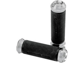 Performance Machine Apex Handgrips with Chrome Finish. Fits 2008up Models with Throttle-by-Wire.