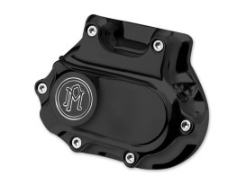 Smooth Hydraulic Clutch Cover - Black Contrast Cut. Fits H-D 1987-2006 with 5 Speed Transmission.