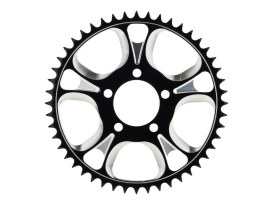 48 Tooth Gasser & Luxe Rear Chain Sprocket  with Black Contrast Cut Finish.