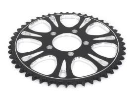 48 Tooth Heathen & Paramount Rear Chain Sprocket with Black Contrast Cut Platinum Finish.