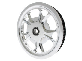 72 Tooth x 1-3/8in. wide Gasser/Luxe Pulley - Chrome. Fits V-Rod 2002-2006.