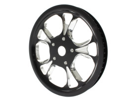 66 Tooth x 1in. wide Gasser & Luxe Pulley - Black Contrast Cut Platinum.