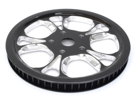Performance Machine 66 Tooth x 20mm wide Gasser & Luxe Pulley with Black Contrast Cut Platinum Finish. Fits Softail 2007-2011 with OEM 200 Rear Tyre.