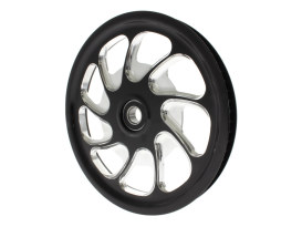 72 Tooth x 28mm wide Torque Pulley - Black Contrast Cut Platinum. Fits V-Rod 2008up.