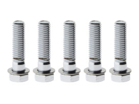 Performance Machine Rear Pulley Bolt Kit with Chrome Finish. Fits 1984up Models.