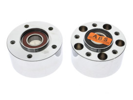 Front Wheel Hub - Chrome. Fits V-Rod 2008up & Dyna Low Rider 2014up with ABS & Dual Disc Rotors.