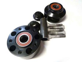 Front Wheel Hub with Black Finish. Fits Dyna & Dyna Low Rider 2008-2011.