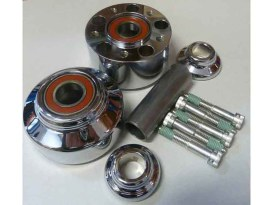 Front Wheel Hub with Chrome Finish. Fits Dyna & Dyna Low Rider 2008-2011.