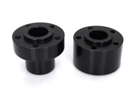 Performance Machine Front Wheel Hub with Black Finish. Fits Softail 1986-1999.