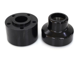 Front Wheel Hub with Black Finish. Fits Heritage Springer 1997-1999, Springer Softail 1988-1999 & Bad Boy 1995-1997 with Single Disc Rotor.