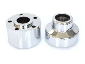Front Wheel Hub with Chrome finish. Fits FLSTF 1990-1999 with Single Disc Rotor.