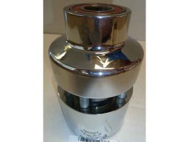 Front Wheel Hub with Chrome Finish. Fits Touring 2008up with ABS & Single Disc Rotor.