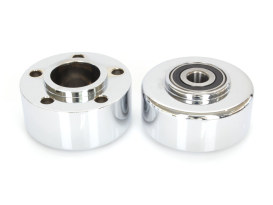 Front Wheel Hub with Chrome Finish. Fits Sportster 2000-2007 & Dyna 2000-2003 Models with Single Disc Rotor.