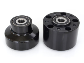 Front Whhel Hub - Black. Fits FXST 2000-2006 & Dyna Wide Glide 2000-2005 Models with Single Disc Rotor.