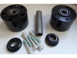 Front Wheel Hub with Black Finish. Fits Touring 2000-2007 with 1