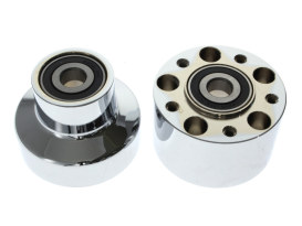 Front Wheel Hub with Chrome Finish. Fits FLSTC Heritage Softail Classic & FLSTF Fat Boy 2000-2006 Models with Single Disc Rotor.