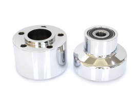 Performance Machine Front Wheel Hub with Chrome Finish. Fits FXSTS Springer Softail 2000-2006 with Single Disc Rotor.