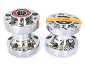 Rear Wheel Hub with Chrome Finish. Fits Softail 2011-2017 with Performance Machine Phatail Wide Tyre Kit.