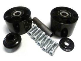 Rear Wheel Hub with Black Finish. Fits Softail 2000-2007.