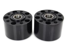 Rear Wheel Hub - Black. Fits Sportster 2004-2007.