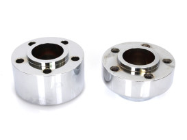 Front Wheel Hub with Chrome Finish. Fits Dyna 2012-2017 & FXLR 2018up models with ABS.