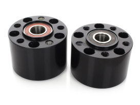 Rear Wheel Hub - Black. Fits Sportster 2014up with ABS.