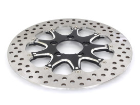 11-1/2in. Left Hand Rear & Right Hand Rear Stiletto Disc Rotor - Black Contrast Cut. Fits Custom Application.