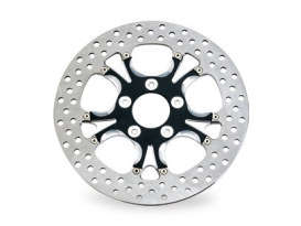11-1/2in. Left Hand Front & Right Hand Front Gasser & Luxe Disc Rotor - Black Contrast Cut Platinum. Fits H-D 1984up with 11-1/2in. Disc Rotor(s).
