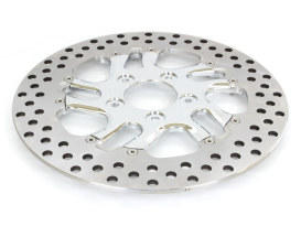 11-1/2in. Left Hand Front Rival Disc Rotor - Chrome. Fits H-D 1994up with 11-1/2in. Disc Rotor(s).