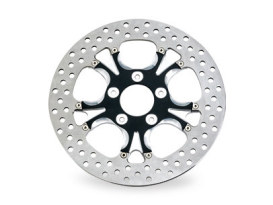 11-1/2in. Left Hand Rear & Right Hand Rear Gasser & Luxe Disc Rotor - Black Contrast Cut Platinum. Fits H-D 1981up with 11-1/2in. Disc Rotor.