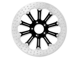 11-1/2in. Left Hand Rear & Right Hand Rear Revel Disc Rotor - Black Contrast Cut Platinum. Fits H-D 1981up with 11-1/2in. Disc Rotor.