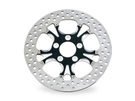 11.8in. Left Hand Front & Right Hand Front Gasser & Luxe Disc Rotor - Black Contrast Cut Platinum. Fits Touring 2008up, V-Rod 2006up & Dyna 2006up.