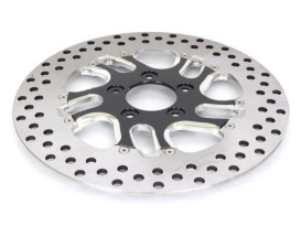 11.8in. Right Hand Front Rival Disc Rotor - Black Contrast Cut Platinum. Fits Touring 2008up, V-Rod 2006up & Dyna 2006up.