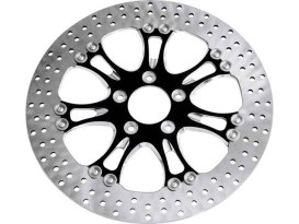 11.8in. Right Hand Rear Heathen & Paramount Disc Rotor - Black Contrast Cut Platinum. Fits Touring 2008up.