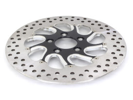 11.8in. Right Hand Rear Torque Disc Rotor - Black Contrast Cut. Fits Touring 2008up.
