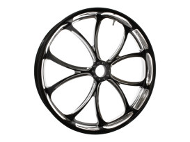 23in. x 3.50in. wide Luxe Wheel - Black Contrast Cut Platinum.