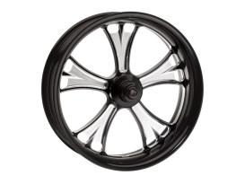 18in. x 3.50in. wide Gasser Wheel - Black Contrast Cut Platinum.